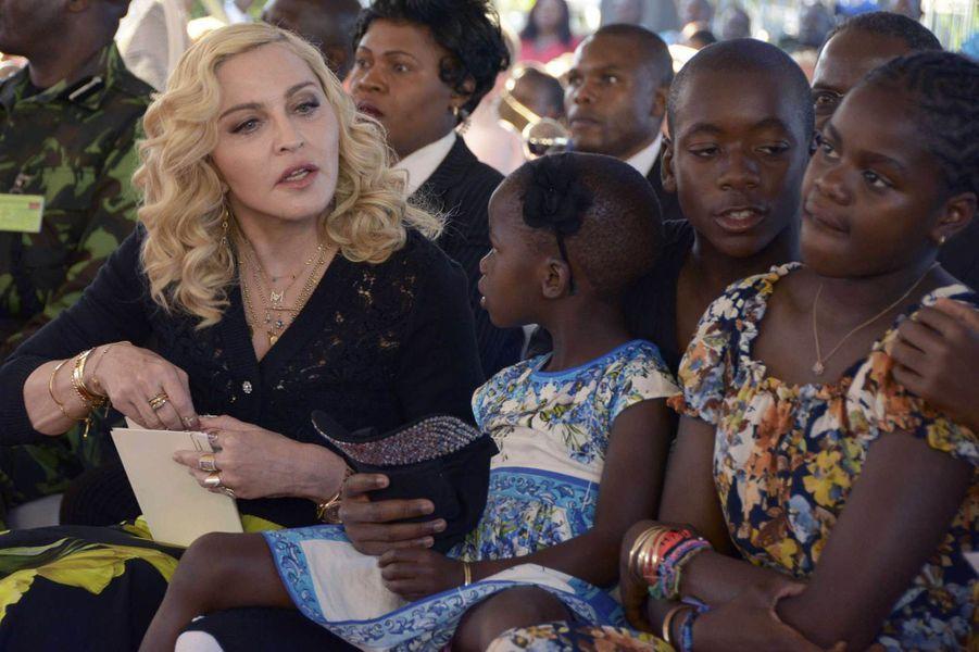 Madonna à Blantyre au Malawi, le 11 juillet 2017.