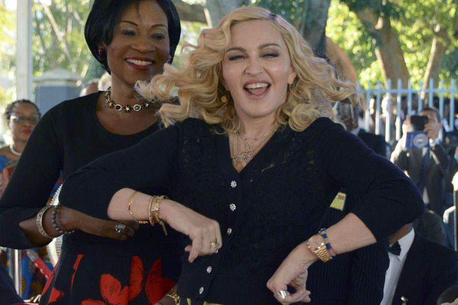 Madonna au Malawi, le 11 juillet 2017.