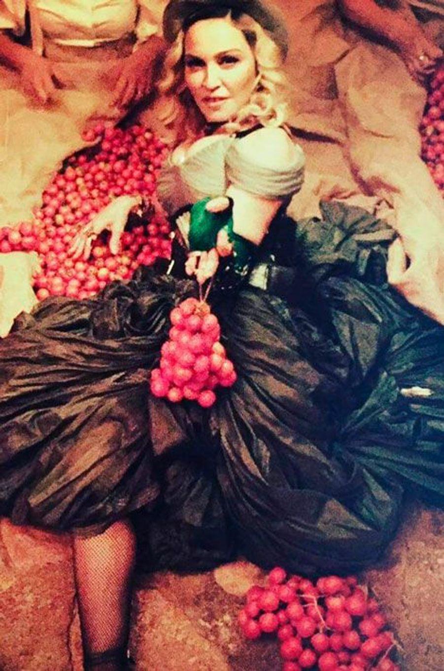 Madonna lors de son anniversaire
