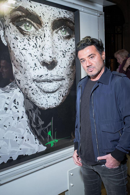 """Odnau vernissage de l'exposition """"Femmes je vous aime"""" à l'Hôtel Plaza Athénée à Paris, le 25 février 2019."""