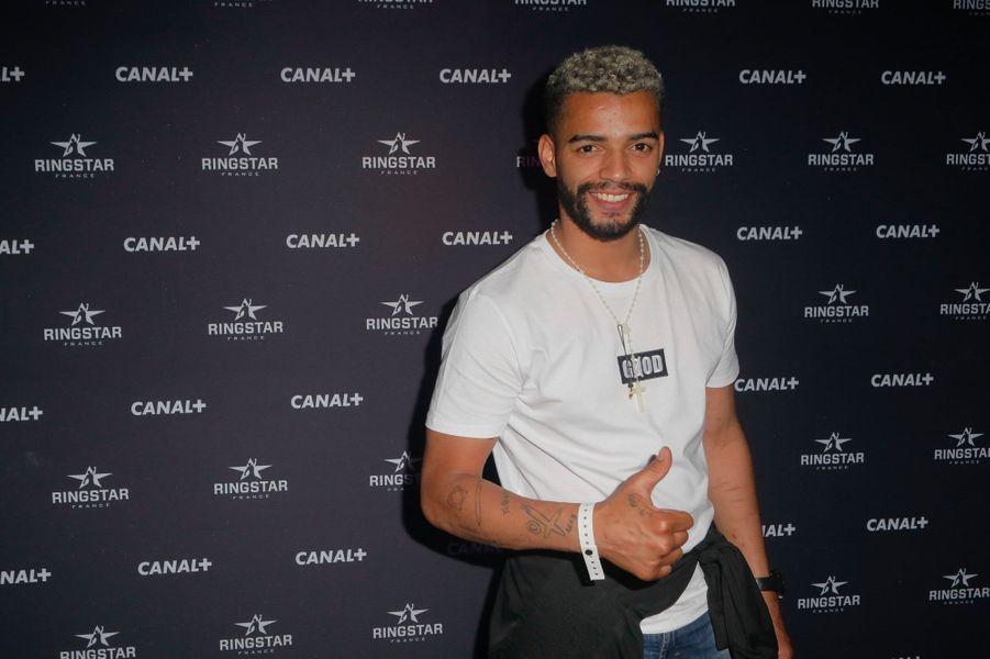 Brahim Zaibat au match de boxe de Tony Yoka au palais des sports de Paris, le 23 juin 2018
