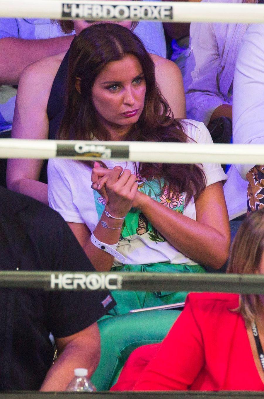 Malika Ménard au match de boxe de Tony Yoka au palais des sports de Paris, le 23 juin 2018