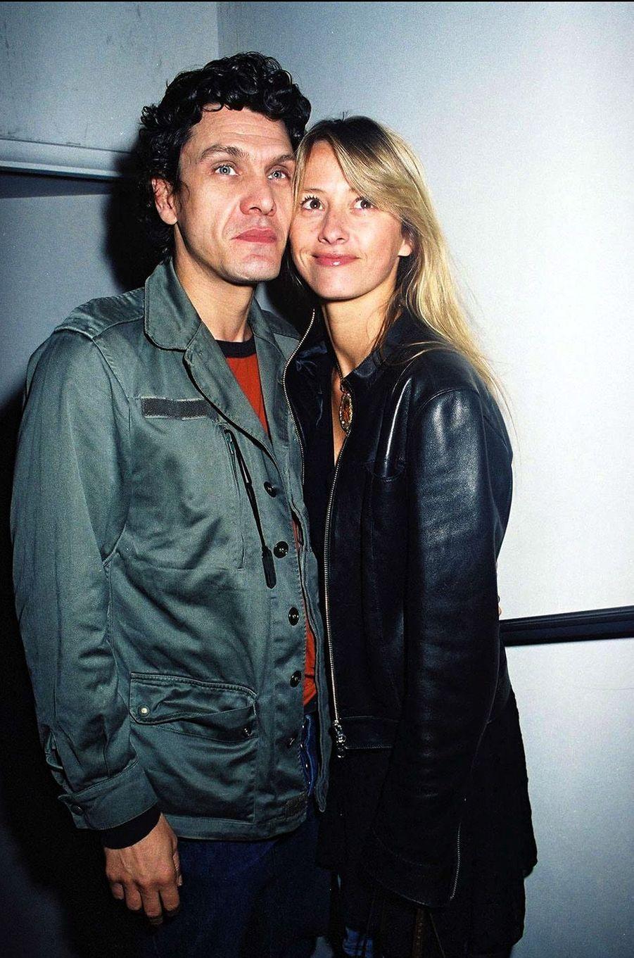 Marc Lavoine et SarahPoniatowski en 2002.