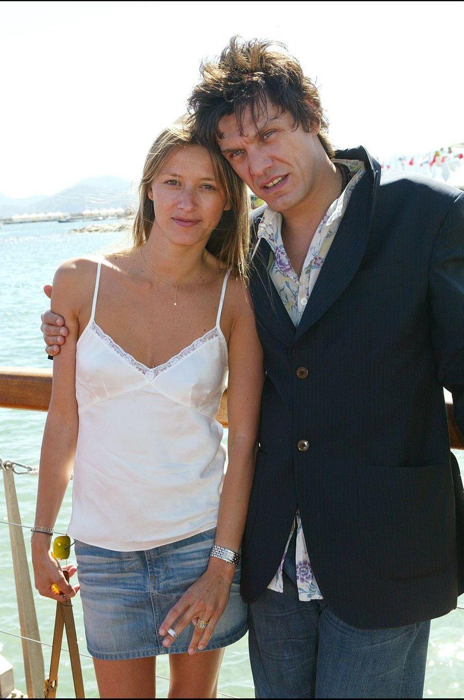 Marc Lavoine et SarahPoniatowski en 2003.