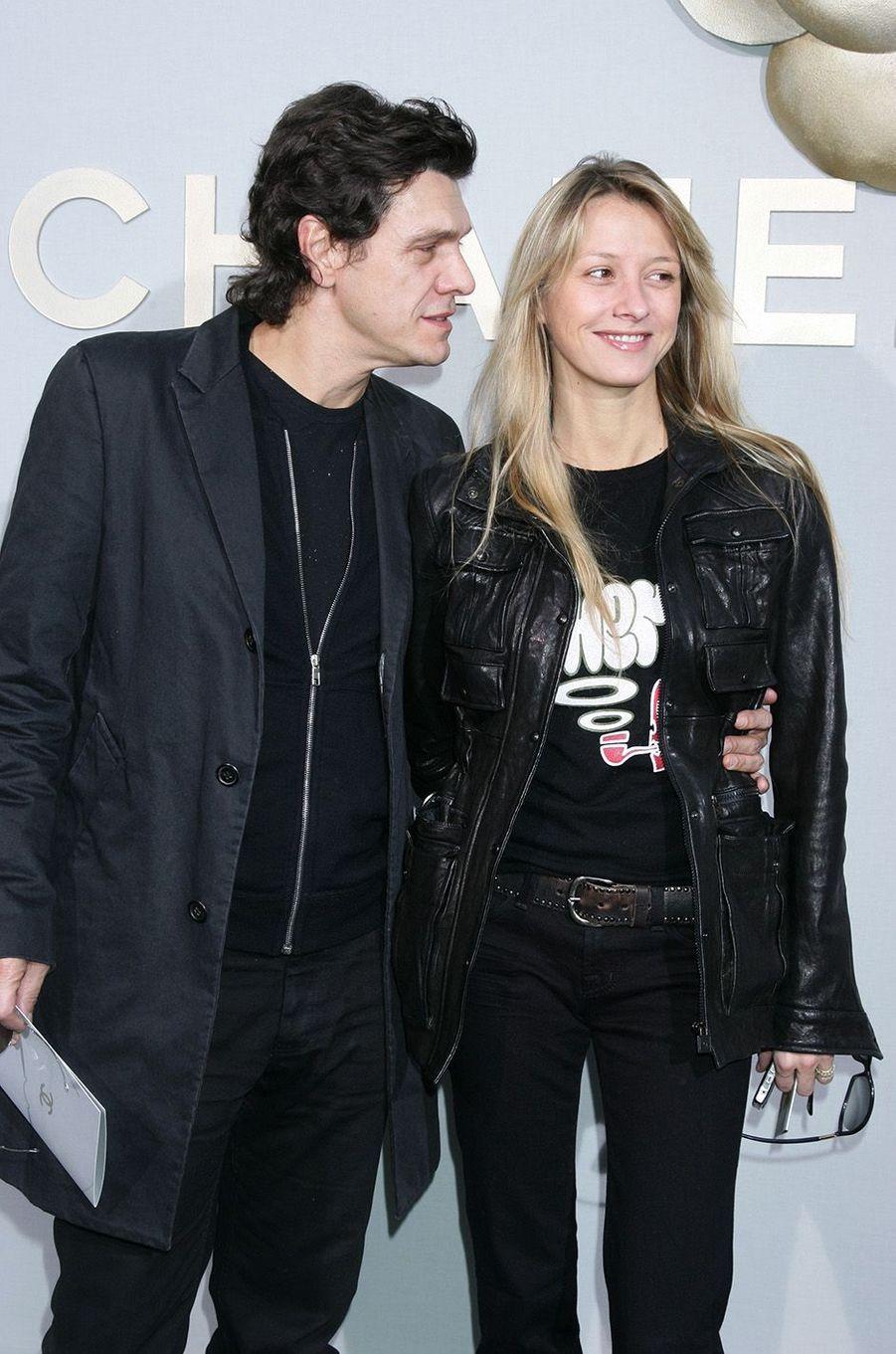 Marc Lavoine et SarahPoniatowski en 2008.