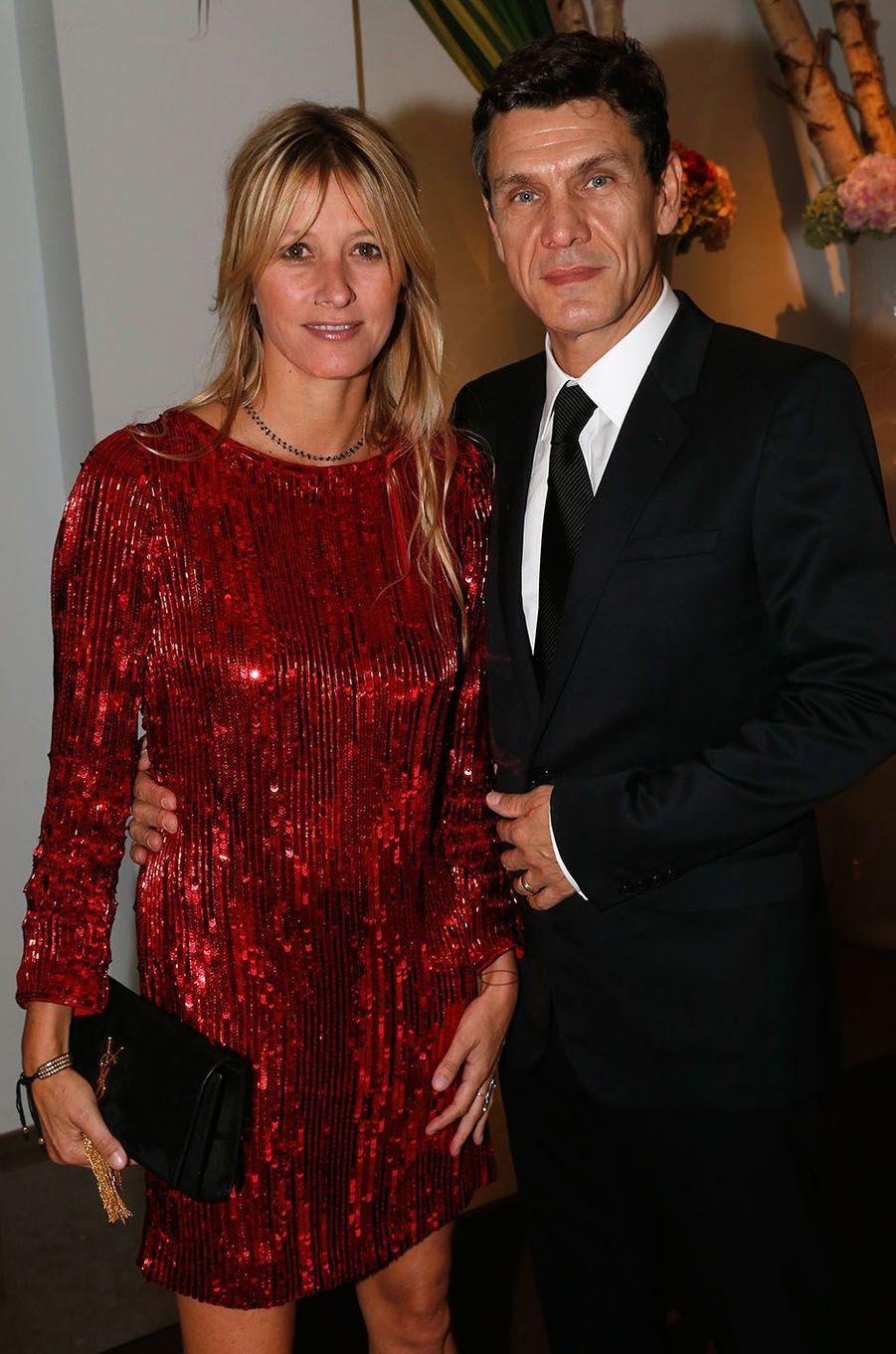 Marc Lavoine et SarahPoniatowski en 2014.