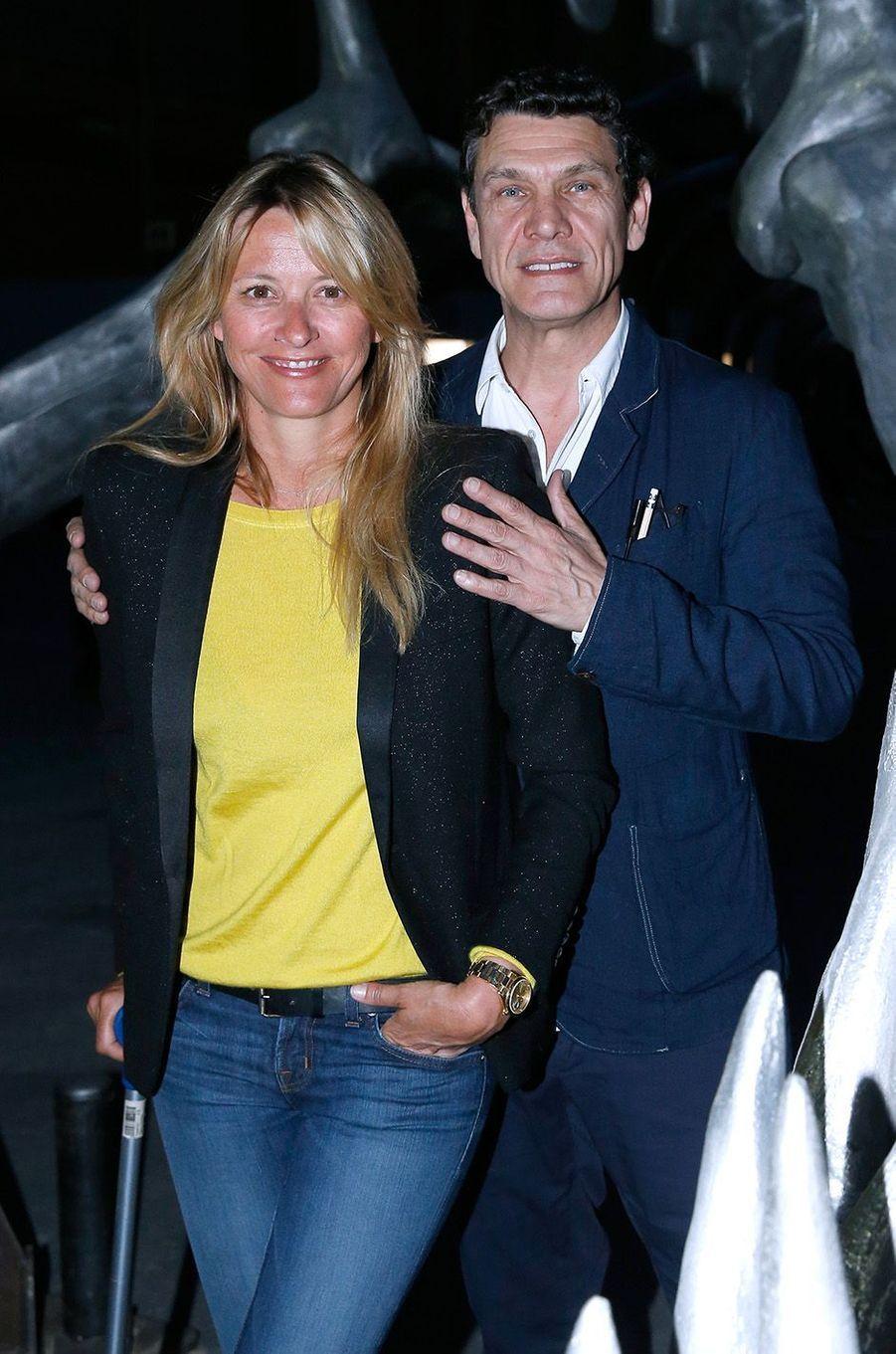 Marc Lavoine et SarahPoniatowski en 2016.