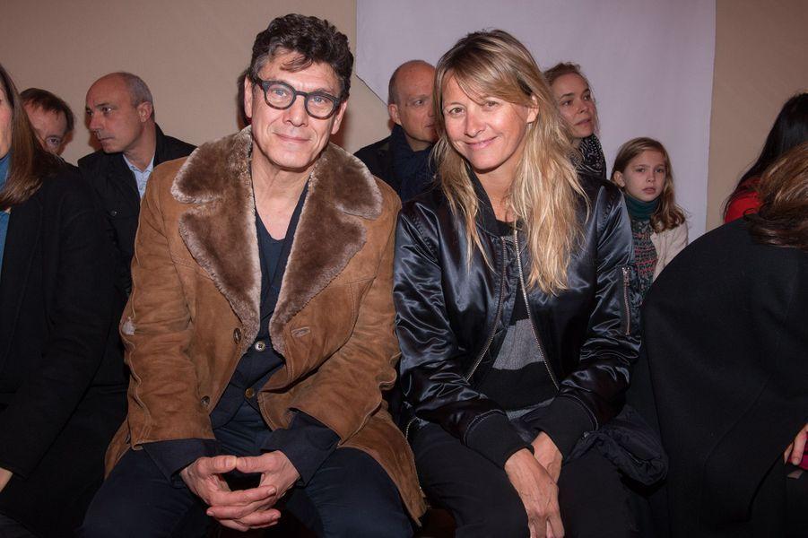 Marc Lavoine et SarahPoniatowski en janvier 2018.
