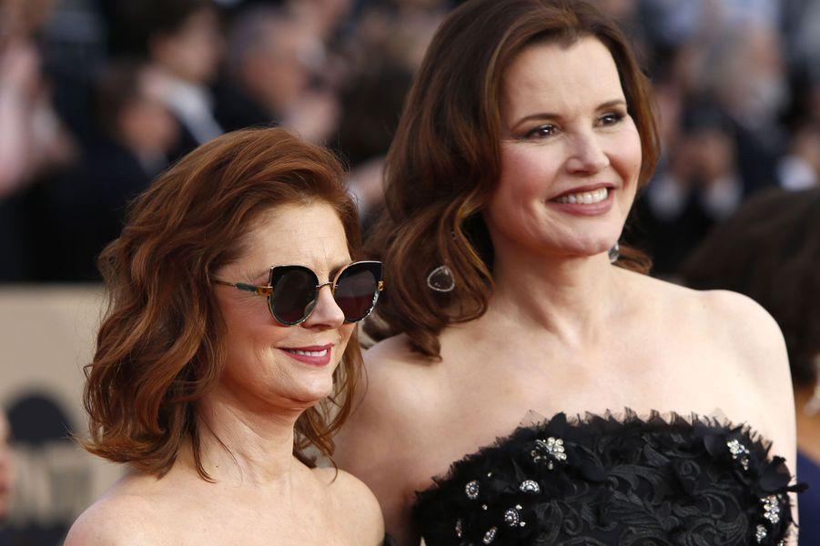 Susan Sarandon etGeena Davis aux SAG Awards