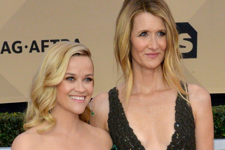 Reese Witherspoon et Laura Dern aux SAG Awards