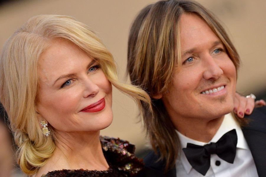 Nicole Kidman et son époux Keith Urban aux SAG Awards
