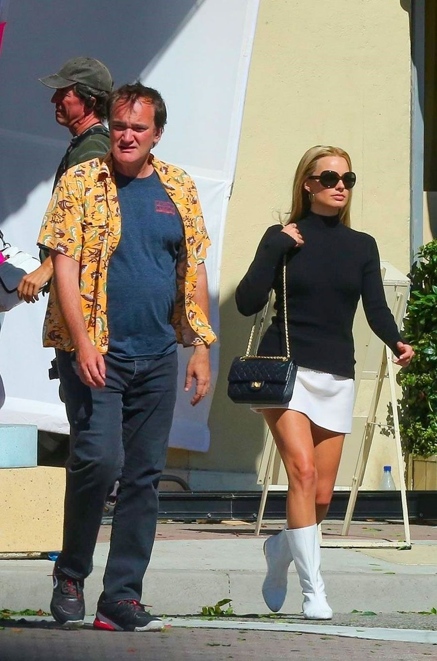 "Margot Robbie et Quentin Tarantino sur le tournage de ""Once Upon a Time in Hollywood"""