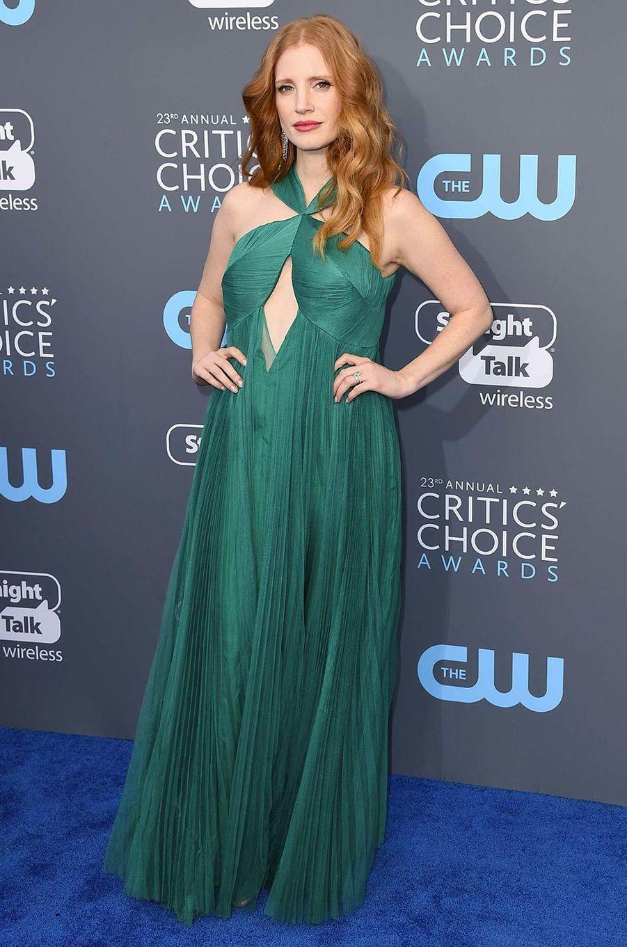 Jessica Chastain dans un robe Vionnet
