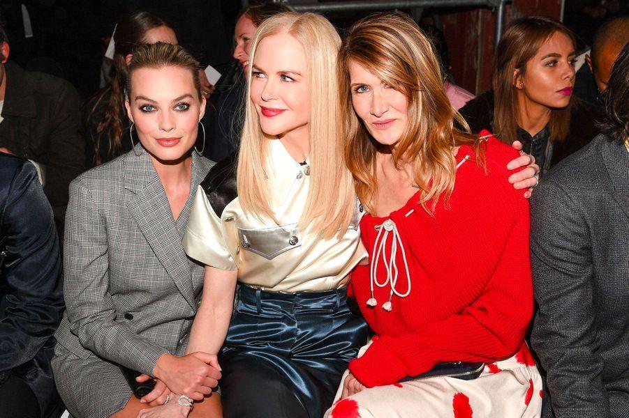 Margot Robbie, Nicole Kidman, Laura Dern au défilé Calvin Klein