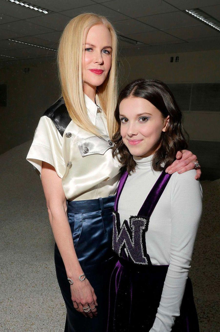 Nicole Kidman et Millie Bobby Brown au défilé Calvin Klein