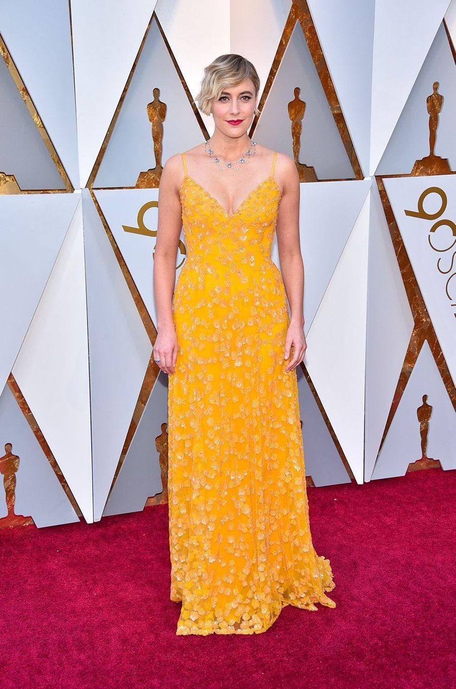 Greta Gerwig dans une robe Rodarte