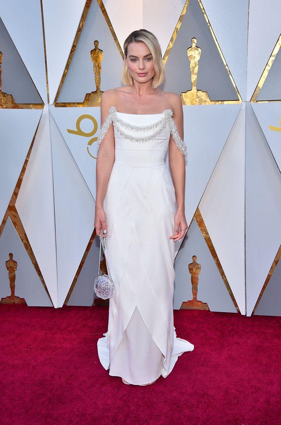Margot Robbie dans une robe Chanel
