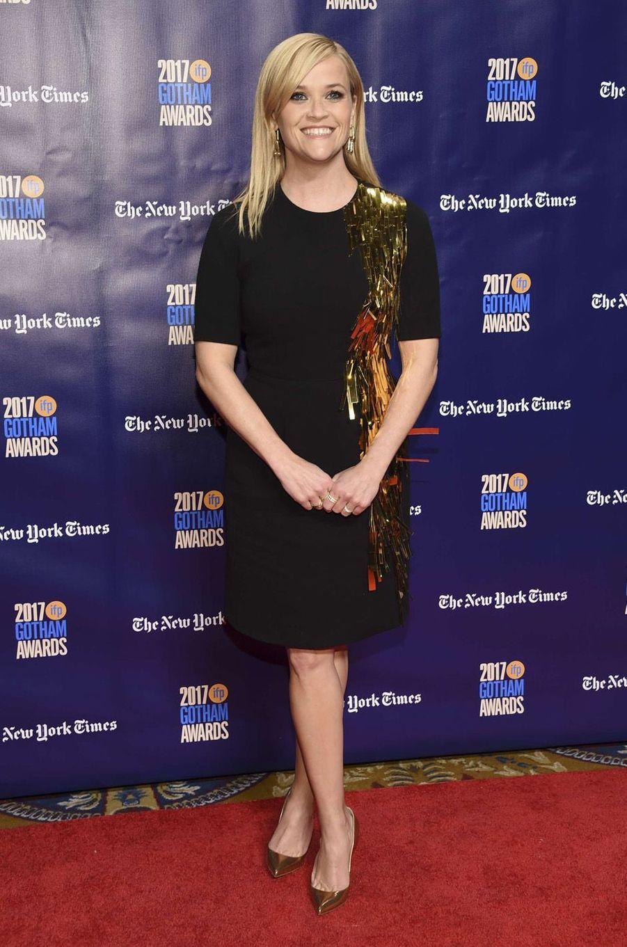 Reese Witherspoonà la soirée des Gotham Awards, à New York le 27 novembre 2017.