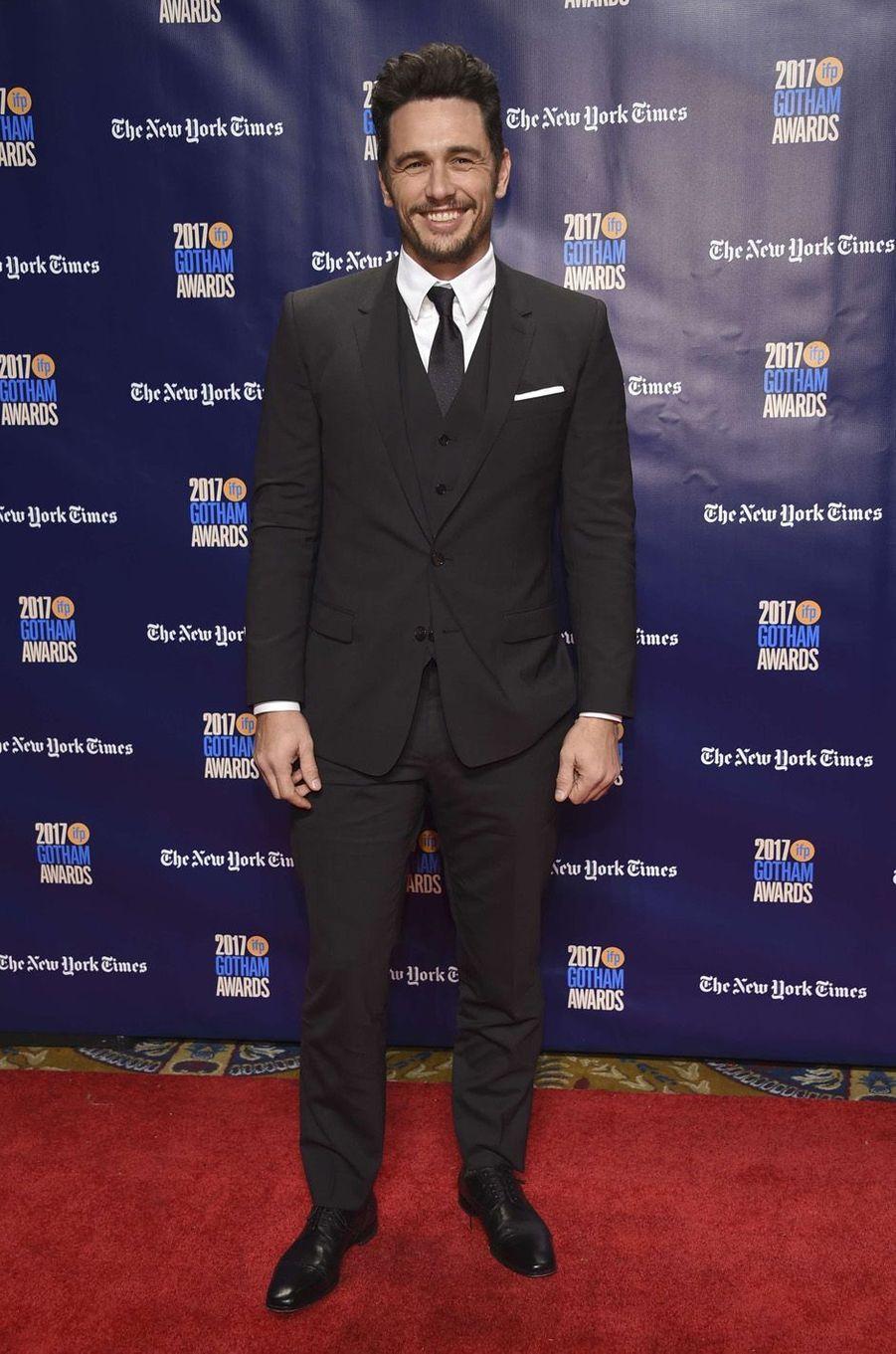 James Francoà la soirée des Gotham Awards, à New York le 27 novembre 2017.