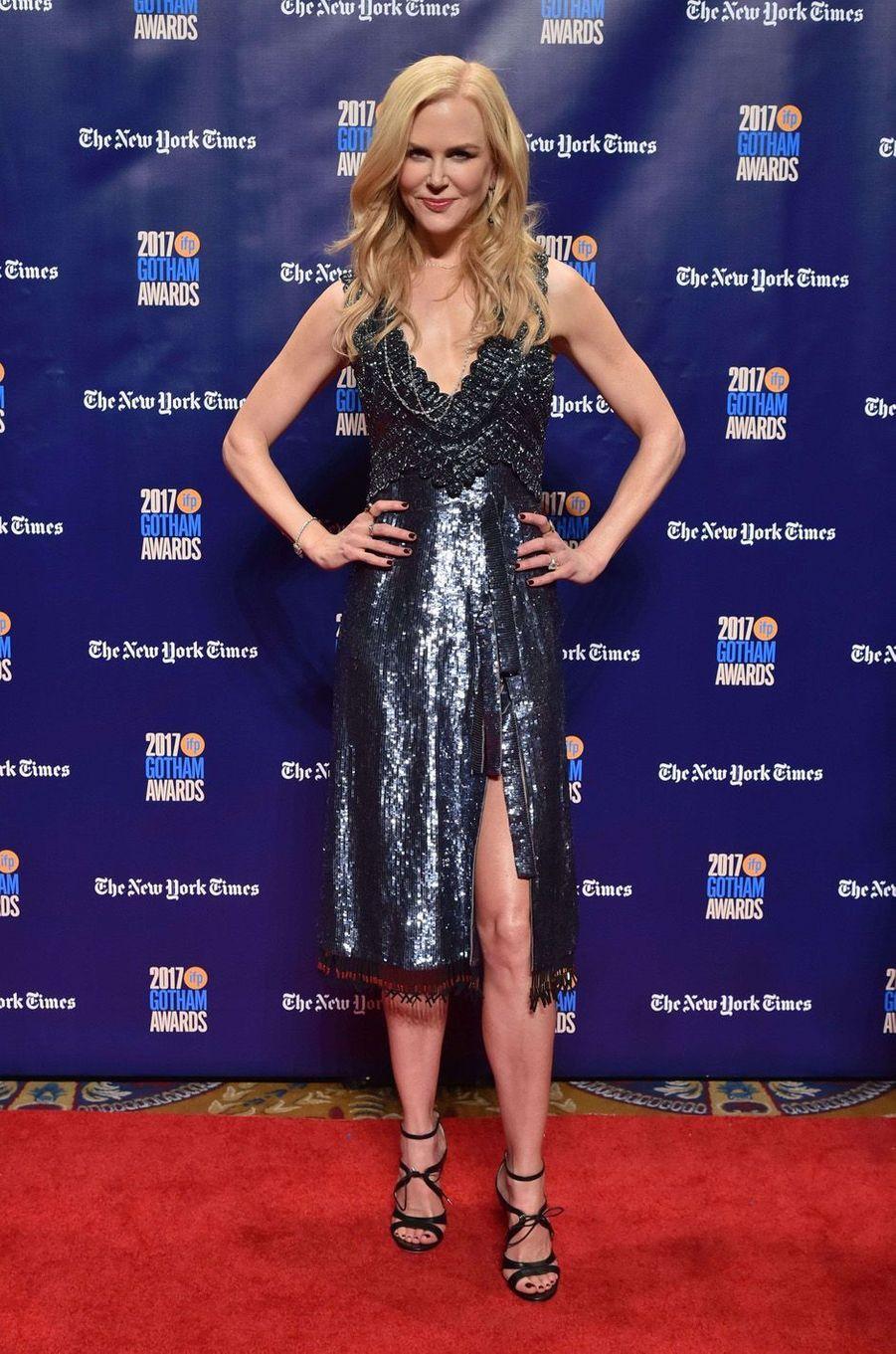 Nicole Kidman à la soirée des Gotham Awards, à New York le 27 novembre 2017.