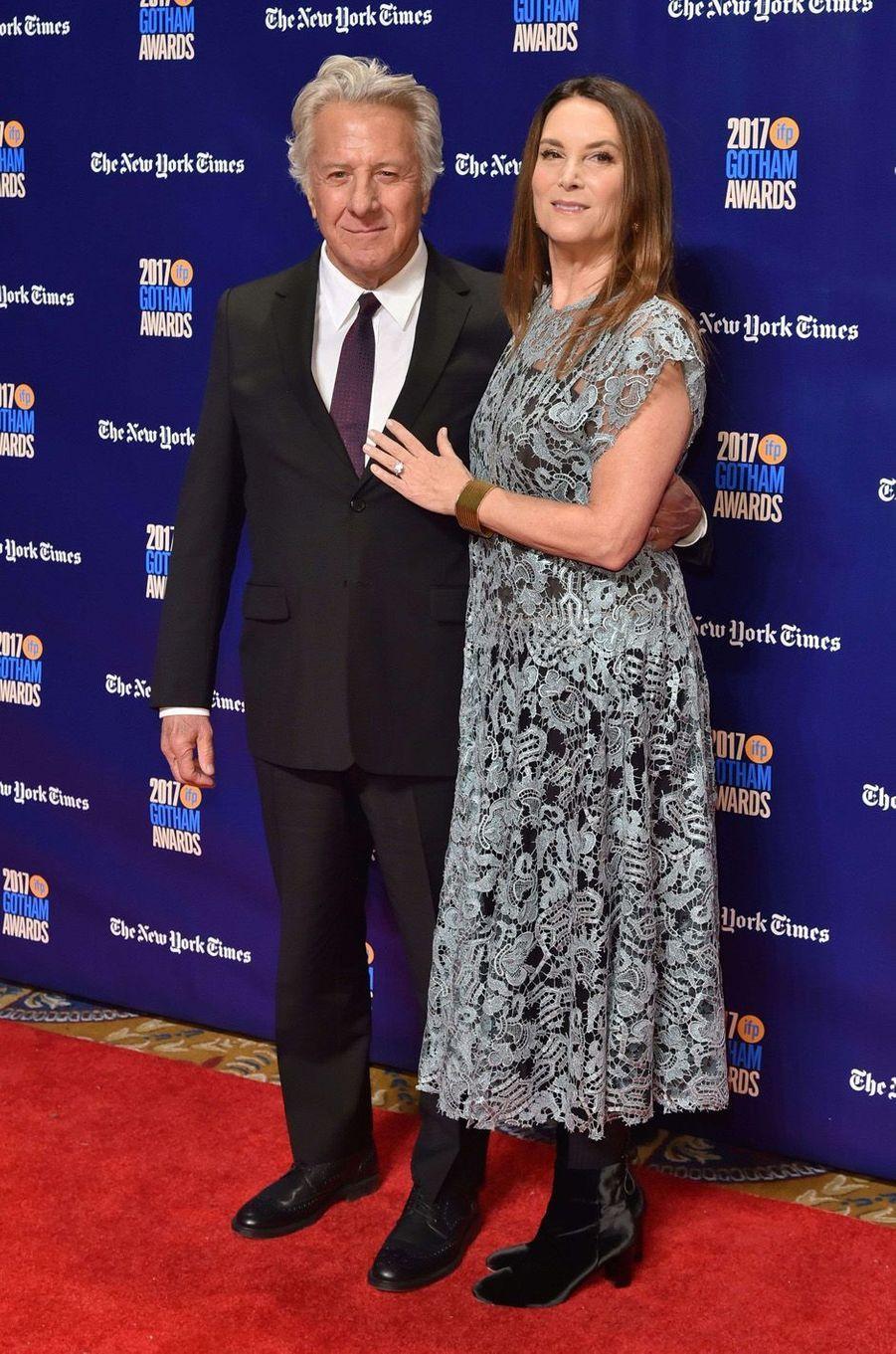 Dustin et Lisa Hoffmanà la soirée des Gotham Awards, à New York le 27 novembre 2017.