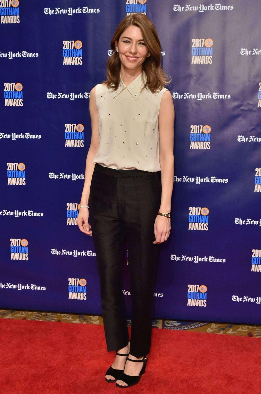 Sofia Coppolaà la soirée des Gotham Awards, à New York le 27 novembre 2017.