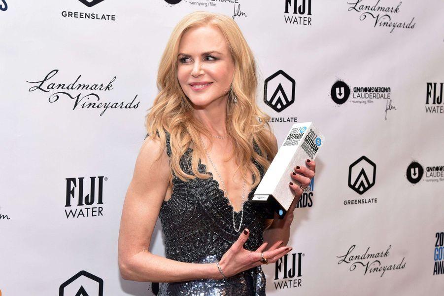 Nicole Kidmanà la soirée des Gotham Awards, à New York le 27 novembre 2017.