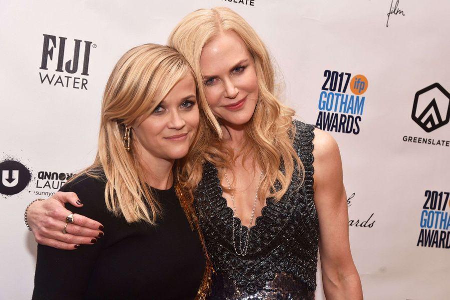 Reese Witherspoon et Nicole Kidmanà la soirée des Gotham Awards, à New York le 27 novembre 2017.