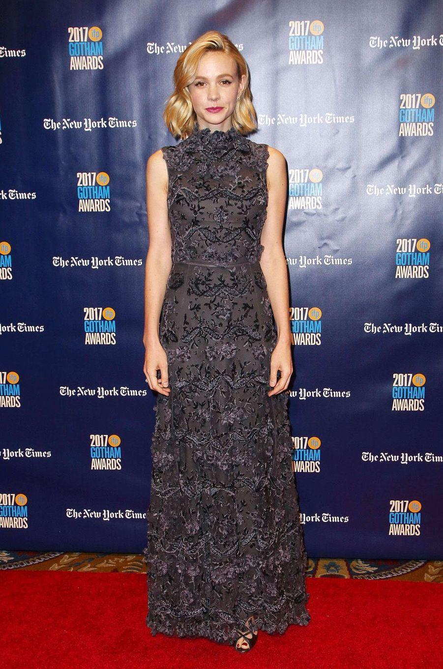 Carey Mulliganà la soirée des Gotham Awards, à New York le 27 novembre 2017.