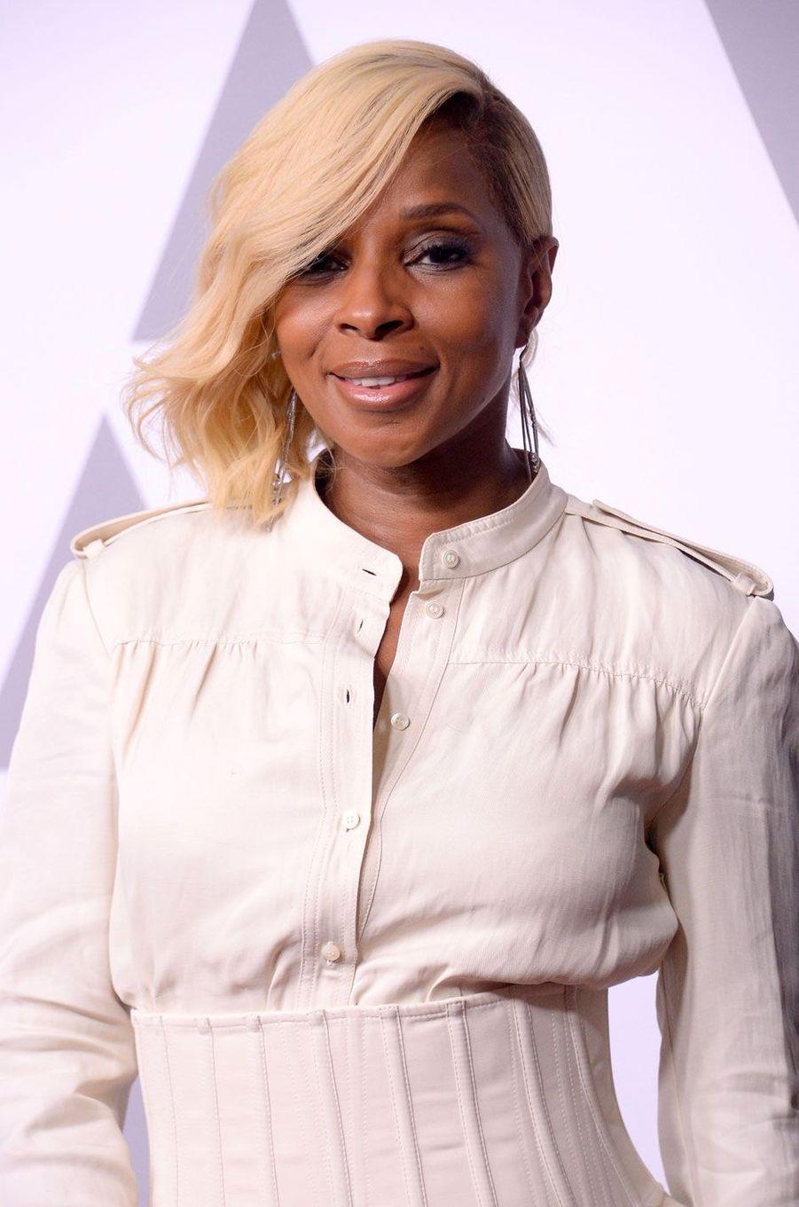 Mary J.Blige au déjeuner des nommés aux Oscars, le 5 février 2018