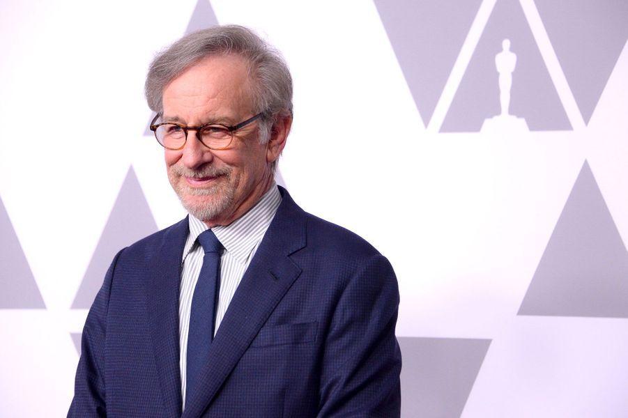Steven Spielberg au déjeuner des nommés aux Oscars, le 5 février 2018