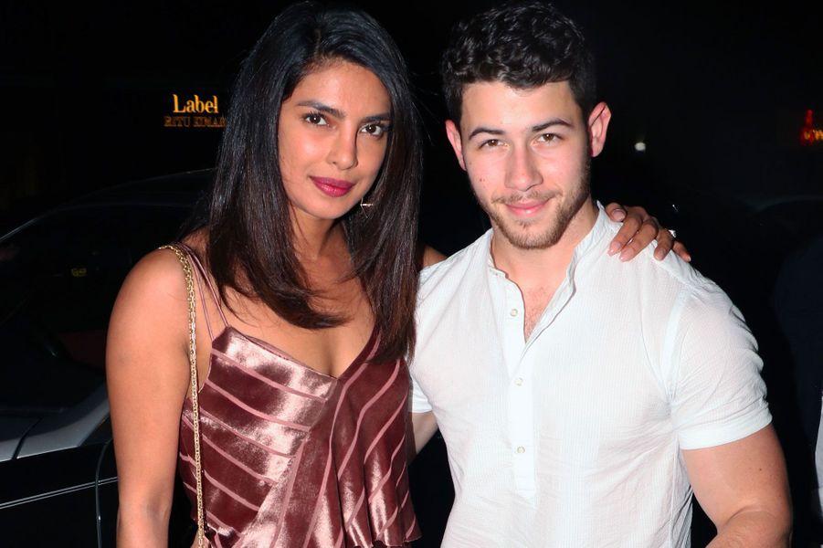 Priyanka Chopra et Nick Jonas à Bombay