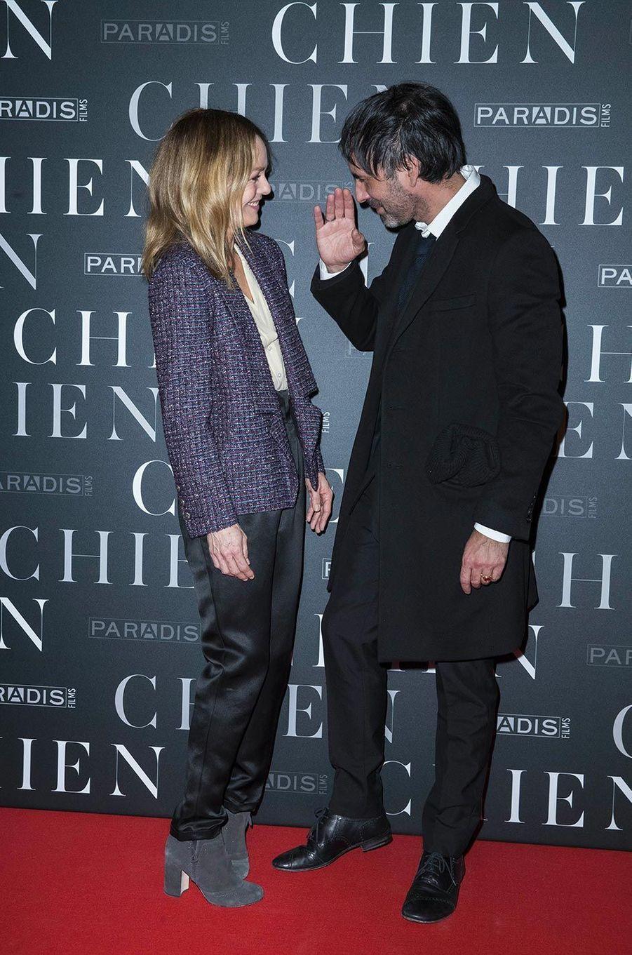 Vanessa Paradis et Samuel Benchetrit en mars 2018.