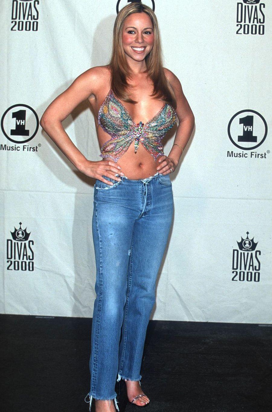 Mariah Carey lors d'une soirée à New York en avril 2000