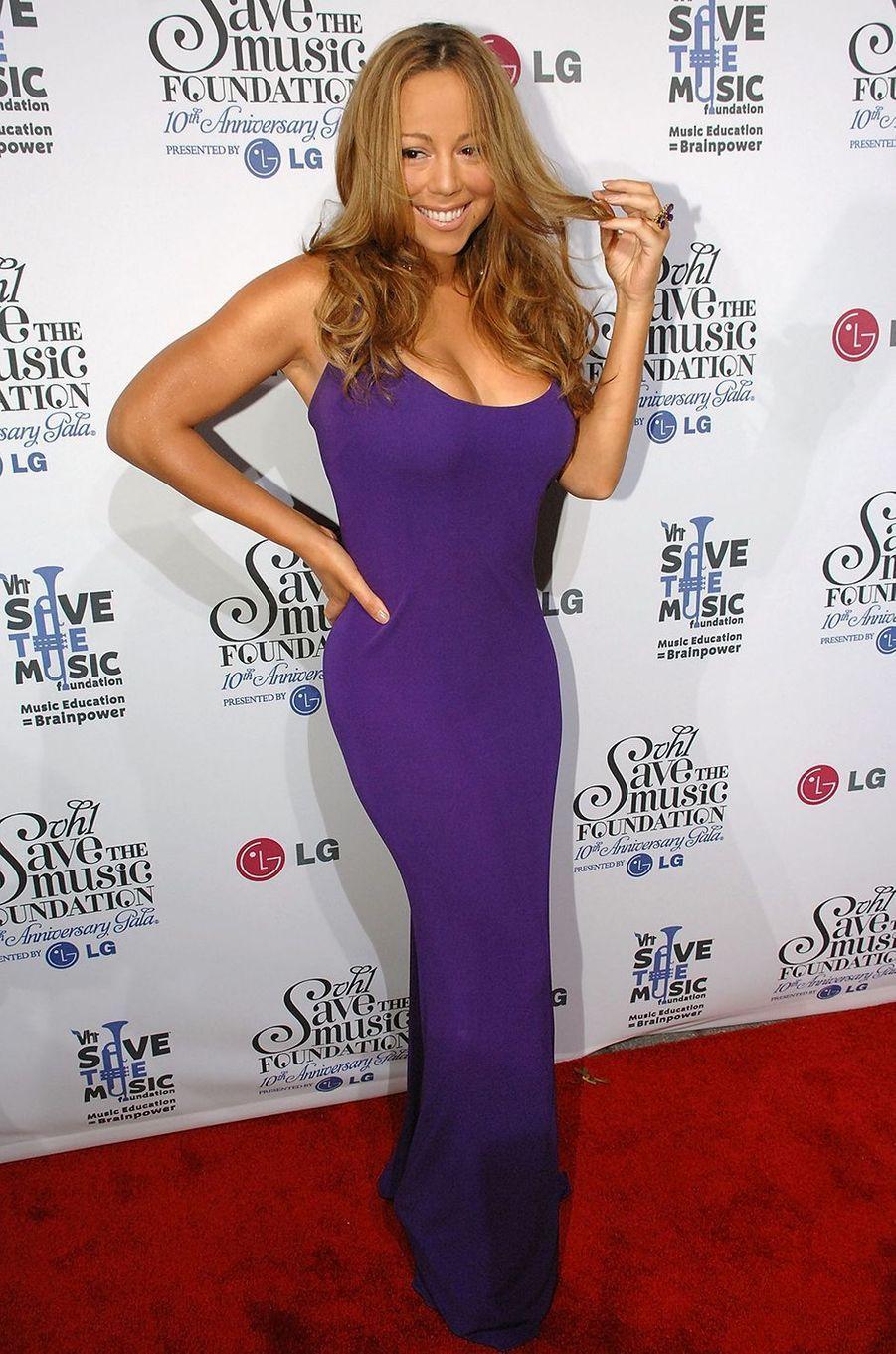 Mariah Carey lors d'un gala à New York le 20 septembre 2007