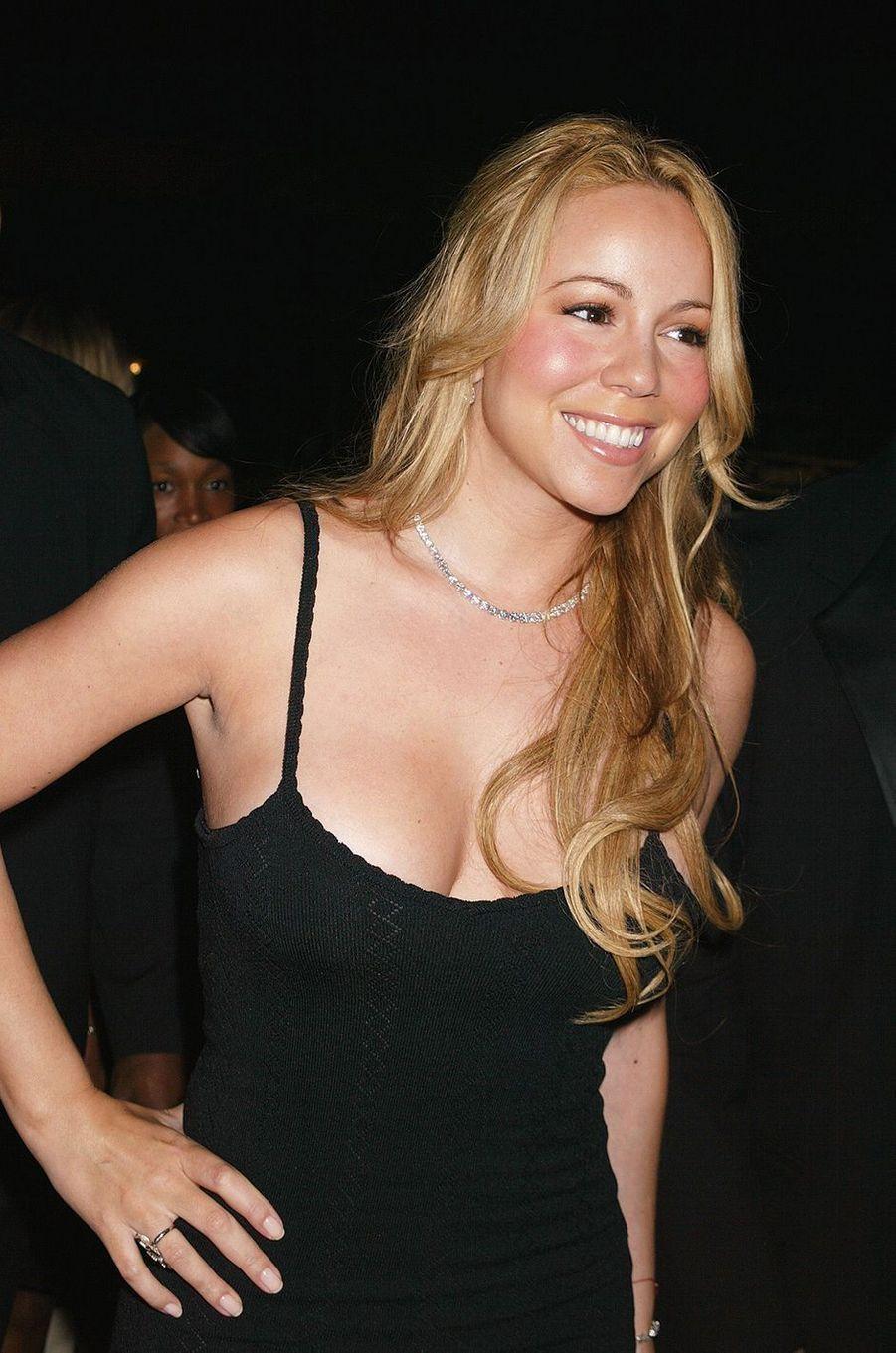 Mariah Carey lors d'un soirée à New York en mai 2004