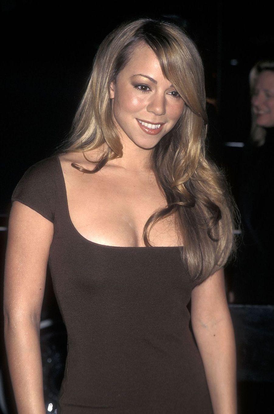 Mariah Carey lors d'une soirée à New York en 1997