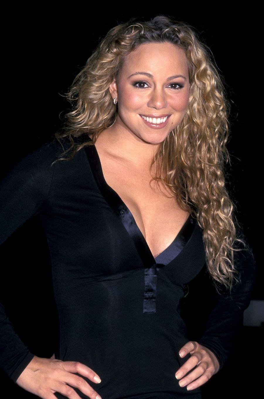 Mariah Carey lors d'une soirée à New York en octobre 2002