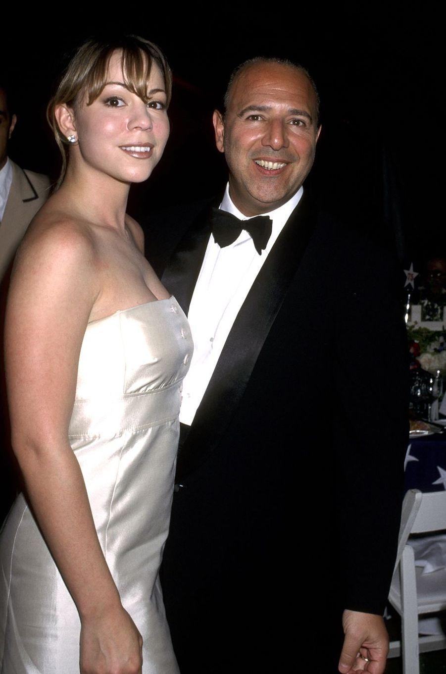 Mariah Carey et son premier mariTommy Mottola en 1996
