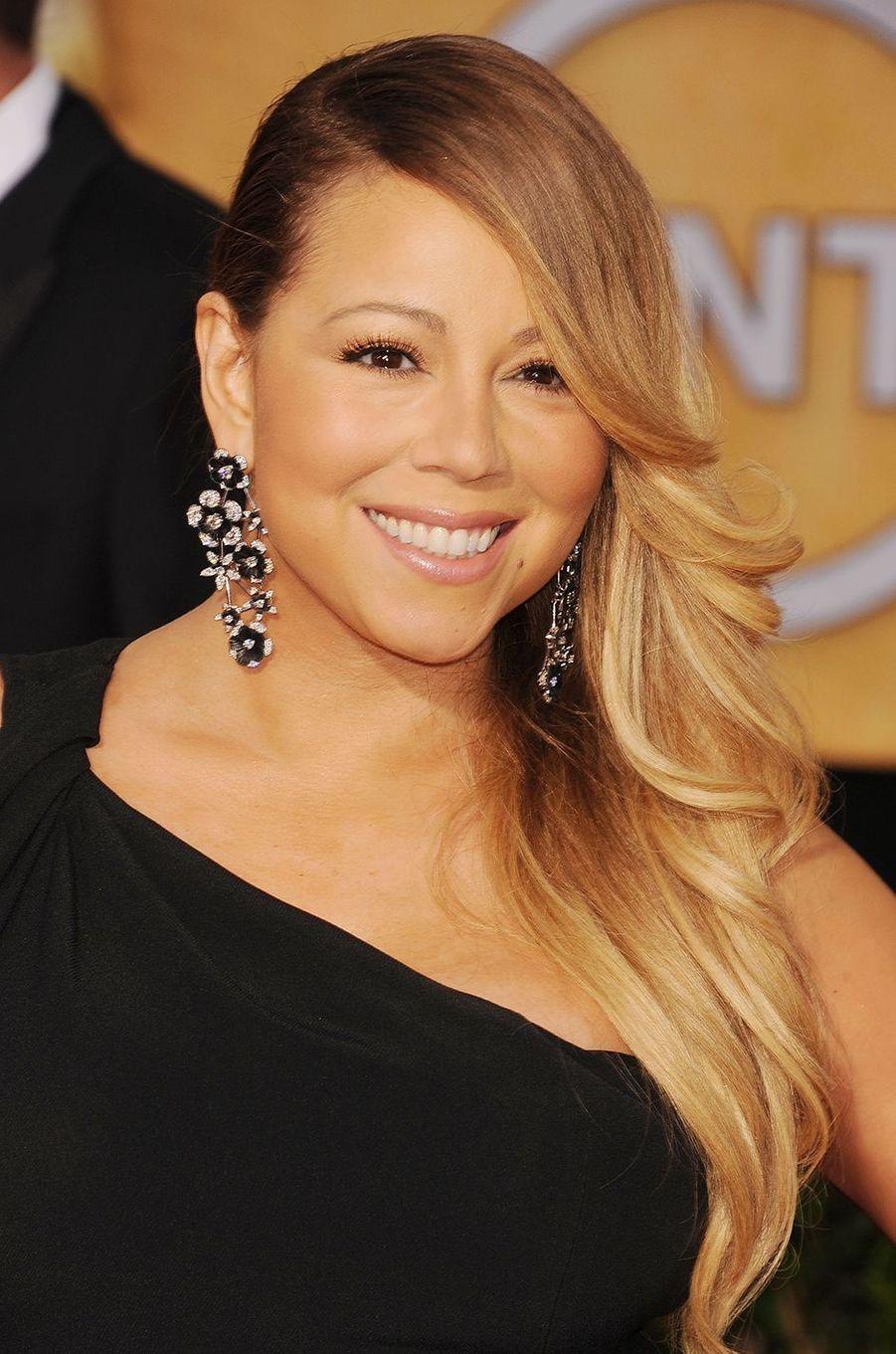 Mariah Carey auxScreen Actors Guild Award à Los Angeles le 18 janvier 2014