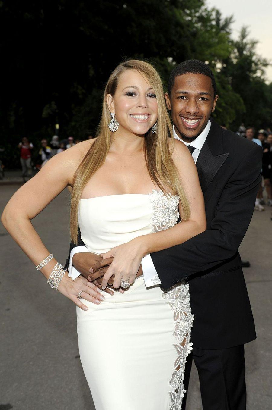 Mariah Carey et son second mari Nick Cannon à New York le 4 juin 2008