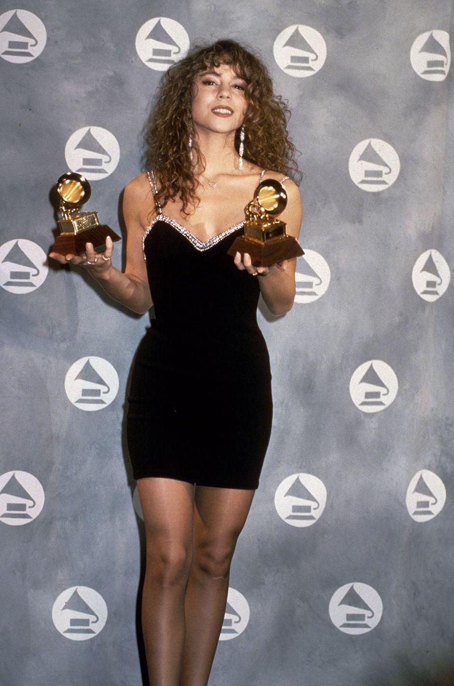 Mariah Carey aux Grammy Awards en 1991
