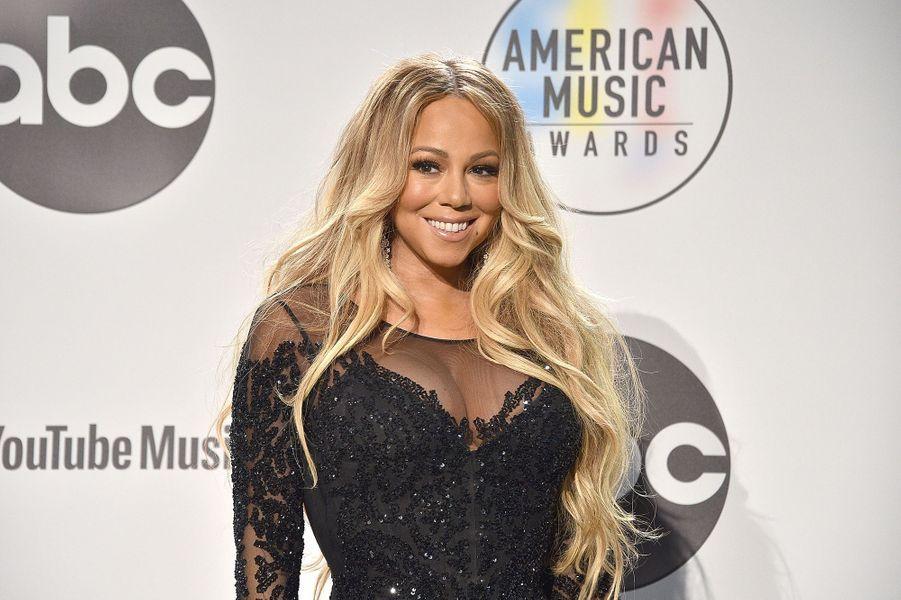 Mariah Carey aux American Music Awards à Los Angeles le 9 octobre 2018