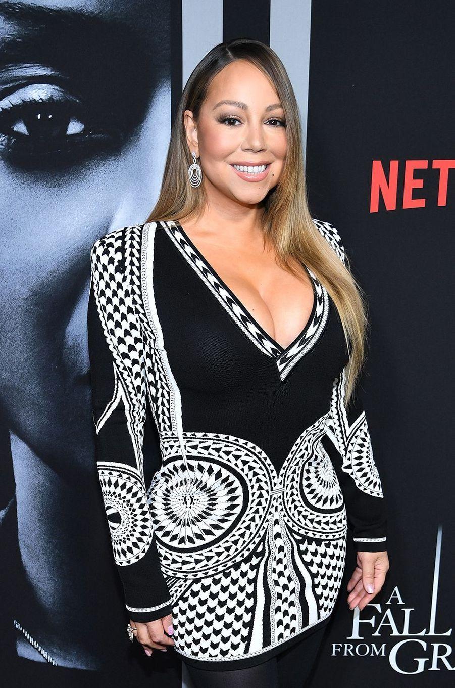 Mariah Carey à la première du film Netflix «A Fall From Grace» («Rupture fatale») à New York le 13 janvier 2020