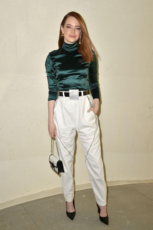 Emma Stoneau défilé croisière Louis Vuitton à New York le 8 mai 2019