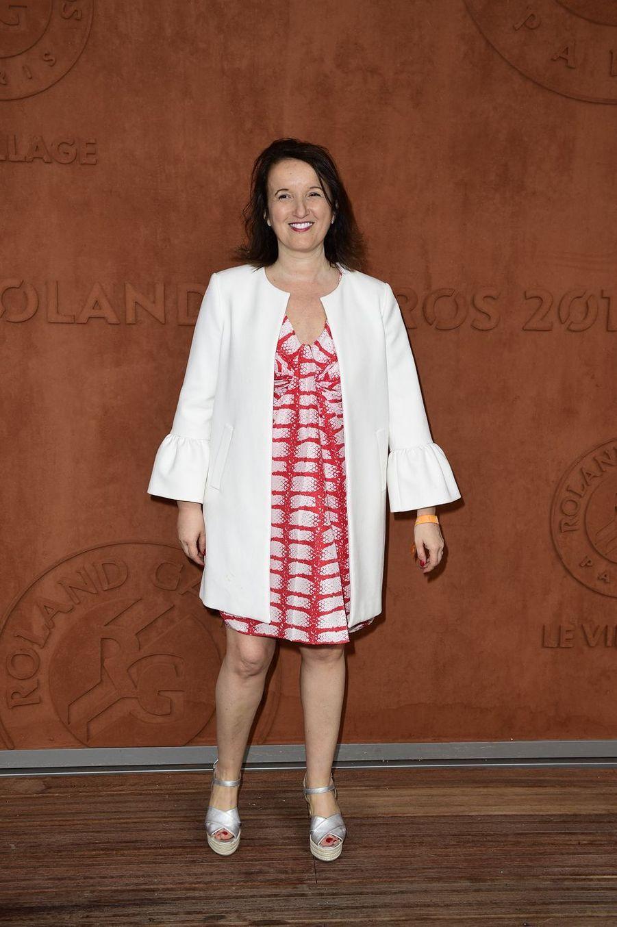 Anne Roumanoffà Roland-Garros le 26 mai 2019