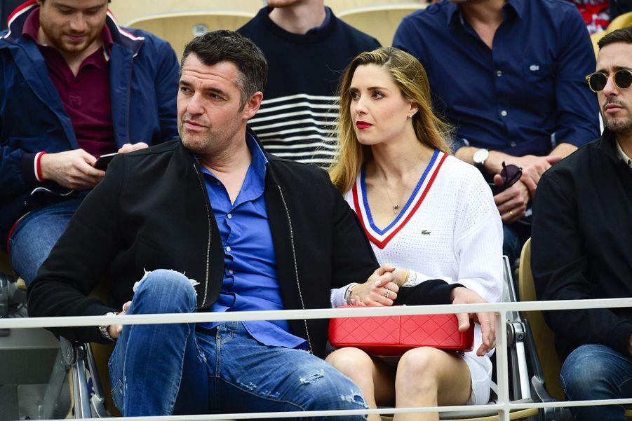 Arnaud Ducret et sa compagne Claire Francisci à Roland-Garros le 26 mai 2019