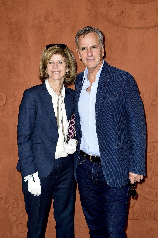Bernard de La Villardière et sa femme Anneà Roland-Garros le 26 mai 2019