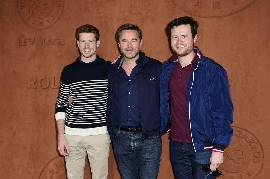 Guillaume de Tonquédec et ses fils Amaury et Timothéà Roland-Garros le 26 mai 2019