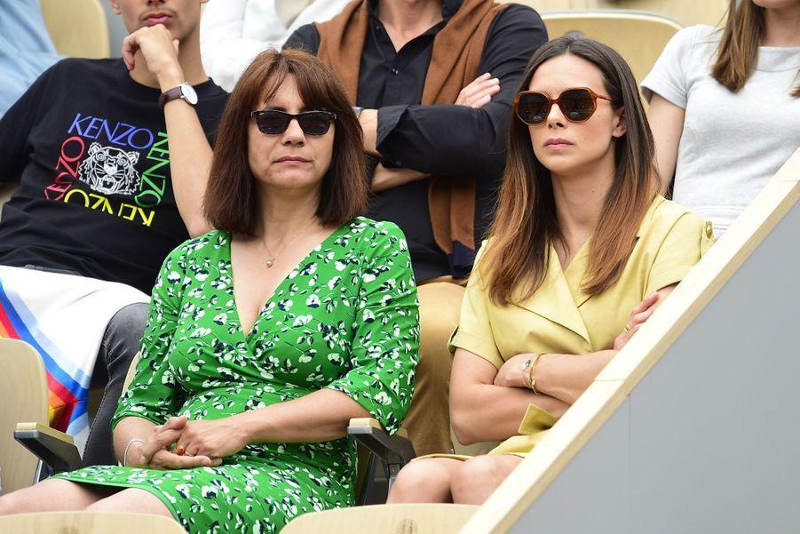 Marine Lorphelin avec sa mère Sandrine à Roland-Garros le 26 mai 2019